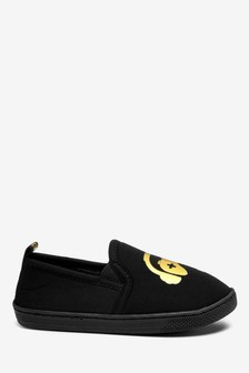 Black/Gold Gamer Cupsole Slippers (Older)