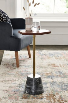 Grey Marble Base Side Table