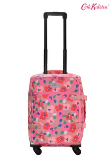 Cath Kidston® Red Large Pansy Twill Four Wheel Cabin Bag