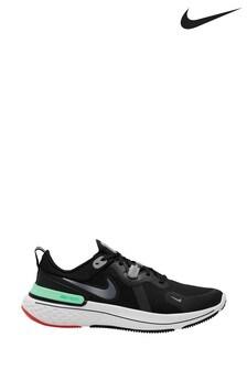 Nike Run Black/Green React Miler Trainers
