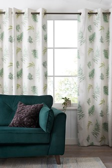 Fern Print Eyelet Curtains