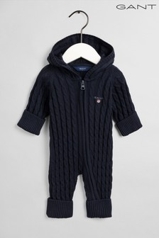 GANT Cotton Cable Zip Coverall