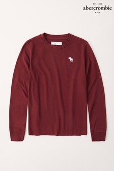 Abercrombie & Fitch Burgundy Long Sleeved T-Shirt