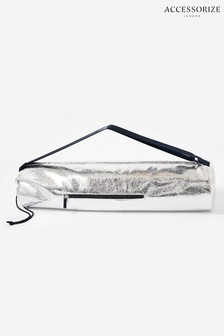 Accessorize Silver Yoga Mat And Carry Bag