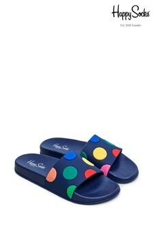 Happy Socks Blue Big Dot Sliders