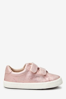 Pink Leather Trainers (Younger)