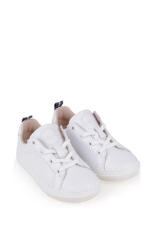 Girls Ivory Leather Trainers