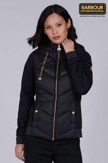 Barbour® International Black Quilted Roe Hybrid Jacket