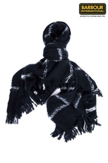 Barbour® International Black Bouclé Scarf