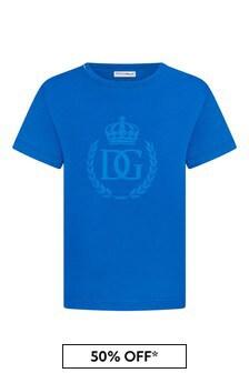 Dolce & Gabbana Boys Blue Cotton T-Shirt