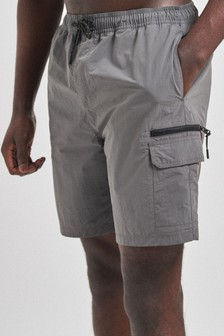 Charcoal Utility Swim Shorts