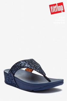 FitFlop™ Blue Lulu Glitter Toe Post Sandals