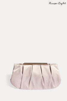 Phase Eight Neutral Sonja Soft Satin Clutch Bag