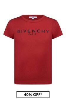 Girls Red Cotton Jersey T-Shirt