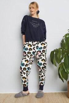 Navy Animal Cosy Pyjamas With Scrunchie