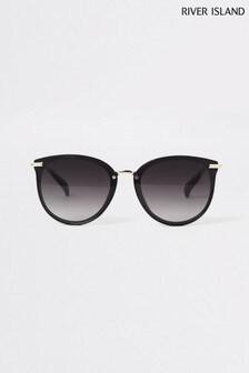 River Island Black Thea Retro Laid On Lens Sunglasses