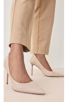 Shimmer Sparkle Point Court Shoes
