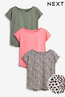 Cap Sleeve T-Shirts 3 Pack