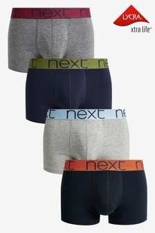Multicolour Waistband Hipsters Four Pack