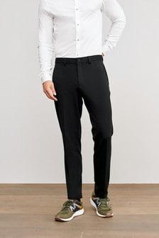 Black Slim Fit Motion Flex Commuter Trousers