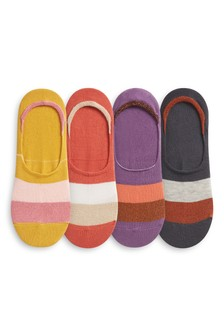 Sparkle Invisible Trainer Socks Four Pack