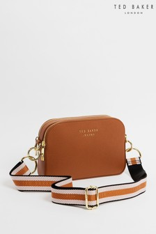 Ted Baker Brown Amerrah Branded Webbing Strap Camera Bag