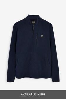 Navy Zip Neck Fleece