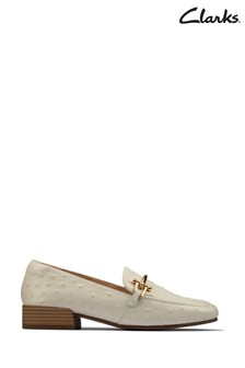 Clarks White Interest Pure Block Shoes