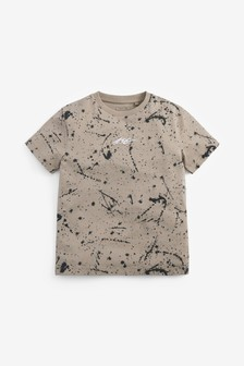 Stone All Over Print Splat T-Shirt (3-16yrs)