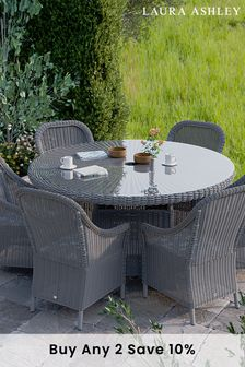 Parterre Sage Bourton Dining Set with 6 Dining Chairs by Laura Ashley