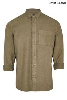 River Island Green Organic Twill Shirt