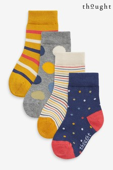 Thought Blue Shay Kids Sock Box 4 Pack
