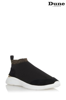 Dune London Black Elianna Comfort Sock Boot Trainers