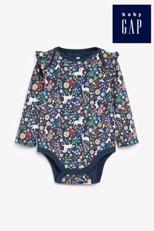 Gap Baby Unicorn Print Long Sleeve Bodysuit