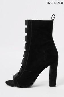 River Island Black Elasticated Shoe Boots