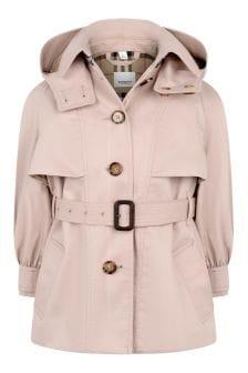 Girls Cotton Trench Coat