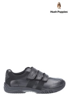 Hush Puppies Black Seb Back To School Shoes