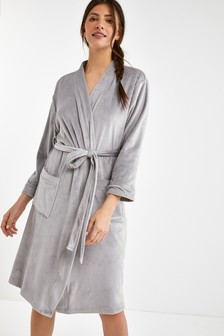 Grey Velour Robe