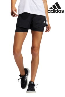 adidas Pacer 3 Stripe 2 In 1 Shorts