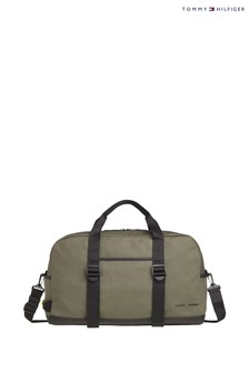 Tommy Hilfiger Green Utility Canvas Duffle Bag