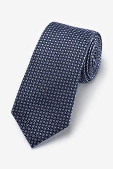 Blue Geometric Pattern Tie