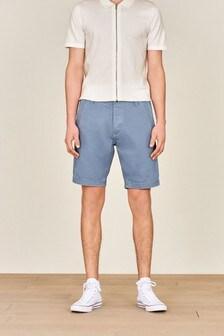 Light Blue Premium Laundered Chino Shorts