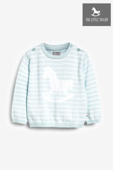 The Little Tailor Blue Stripey Baby Knit Jumper