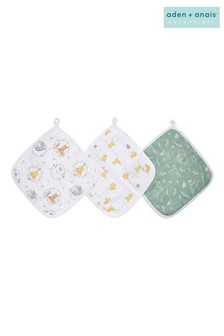 aden + anais Essentials Disney Winnie + Friends Washcloth Set 3 Pack