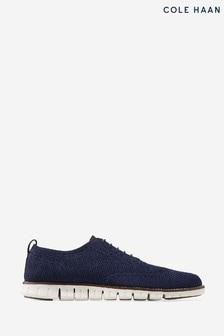 Cole Haan Blue Zerogrand Stitchlite Oxford Shoes