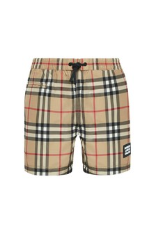 Burberry Kids Baby Boys Beige Swim Shorts