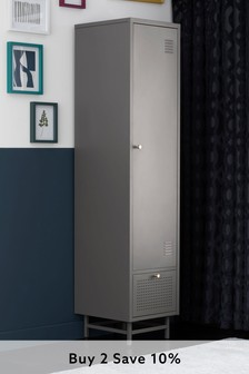 Grey Locker Slim Wardrobe