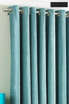 Wellesley Crushed Velvet Eyelet Curtains by Riva Home