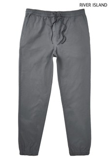 River Island Grey Pull On Chinos