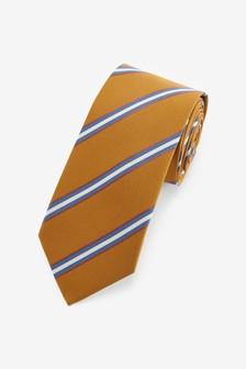 Yellow/White Stripe Pattern Tie